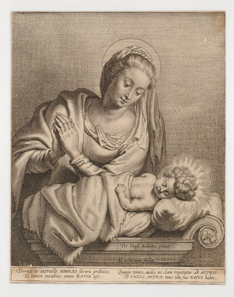Virgin And Child engraved by Vorsterman