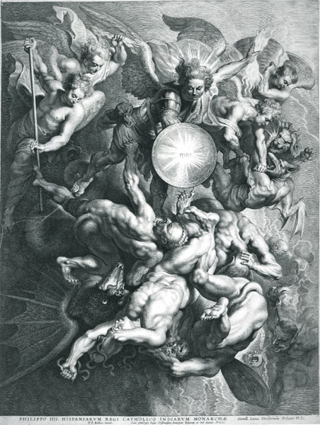 Saint Michael expelling Lucifer by Peter Paul Rubens
