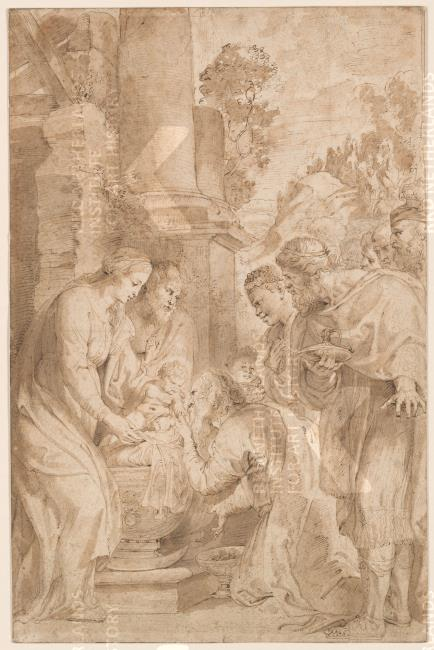 Adoration Of The Kings Drawing