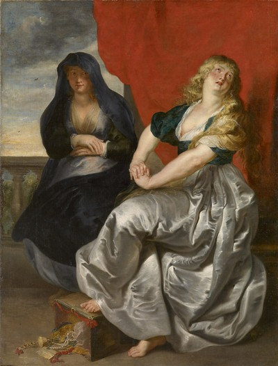 Penitent Magdalene and Martha Vienna version