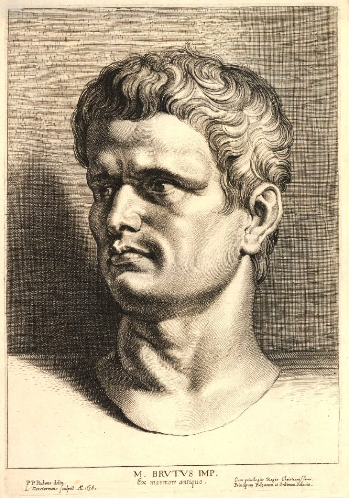 Lucas Vorsterman engraving of Marcus Brutus