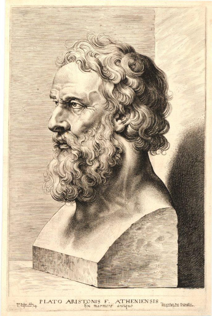 Head of Plato by Lucas Vorsterman