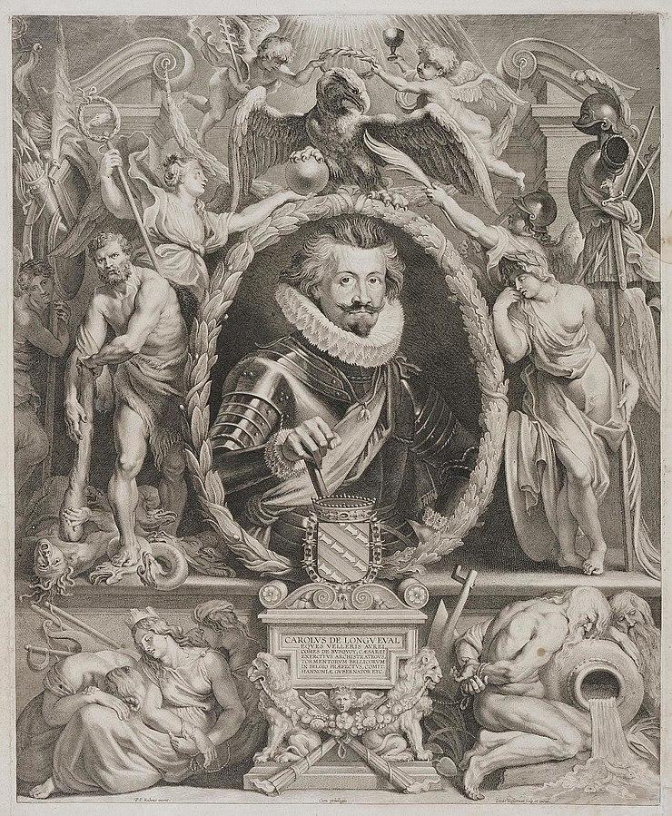 Engraving by Lucas Vorsterman of Charles de Longueval