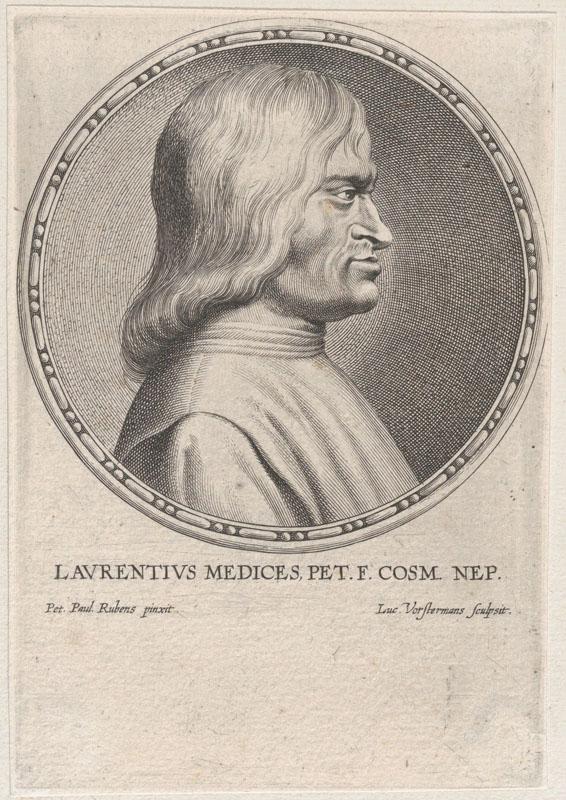 Engraving by Lucas Vorsterman of Lorenzo De Medici
