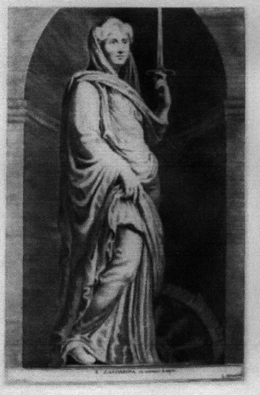 Lucas Vorsterman engraving of Saint Catherine
