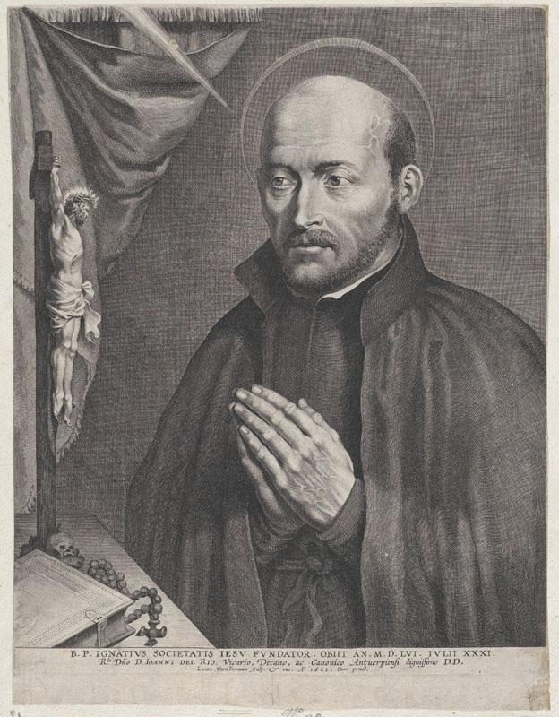 Lucas Vorsterman engraving of Saint Ignatius